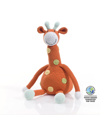 Pebble Fairtrade Crochet Large Giraffe Toy