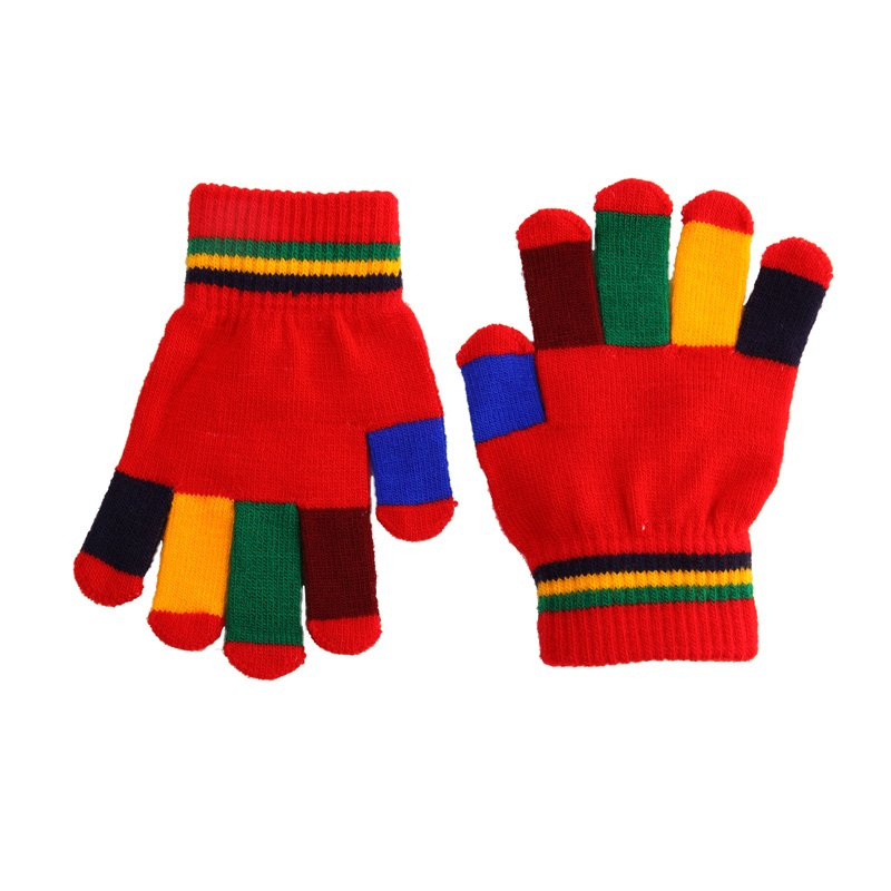 Magic Gloves Multi Coloured-Red