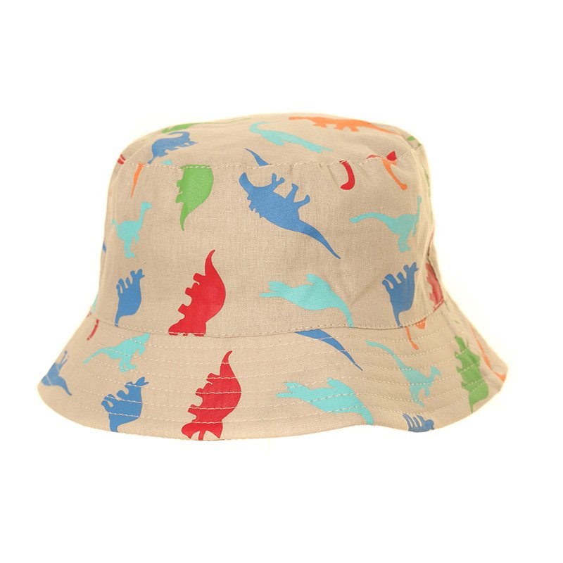 Dinosaur Bucket Sun Hat Natural
