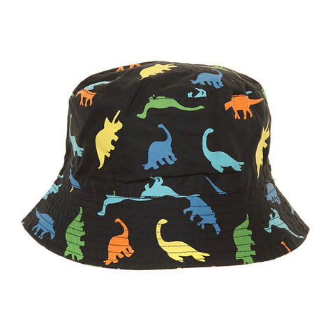 Dinosaur Bucket Sun Hat Navy