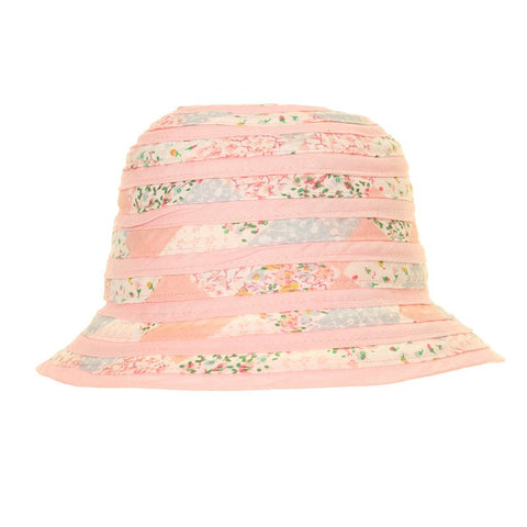 Swirled Cotton Sun Hat Pale Pink