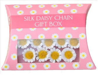 Spotty Cow Silk Daisy Chains 20 Pack in Pillow Box