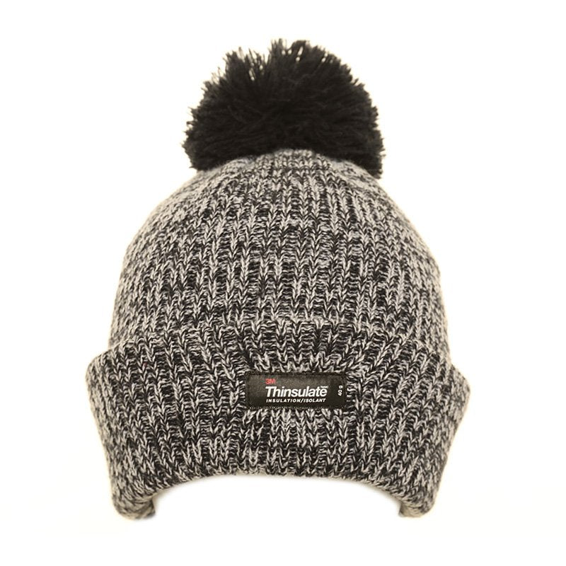 Thinsulate Marl Bobble Hat Navy