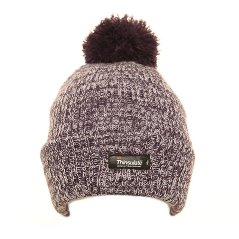 Thinsulate Marl Bobble Hat Lilac