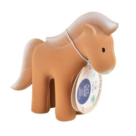 Tikiri Natural Rubber Bath Rattle Toy Horse