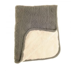 Baby Blanket Sherpa Fleece Grey