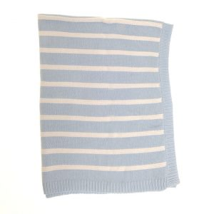 Baby Blanket Blue Stripes