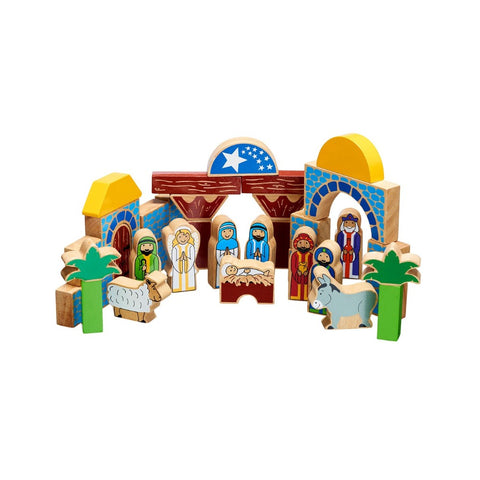 Lanka Kade Fairtrade Wooden Nativity Building Blocks