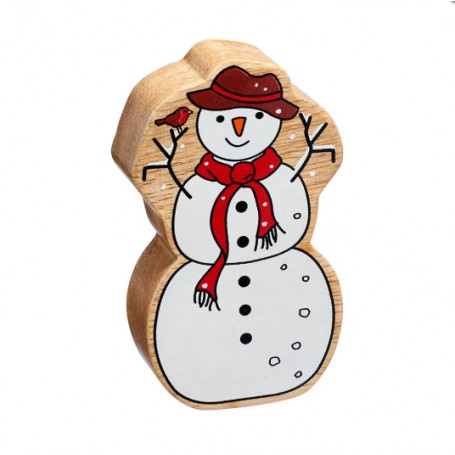 Lanka Kade Fairtrade Painted Wooden Snowman
