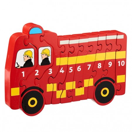 Lanka Kade Fairtrade Number Puzzle 1-10 Fire Engine