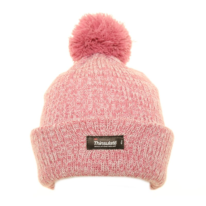 Thinsulate Marl Bobble Hat Pink