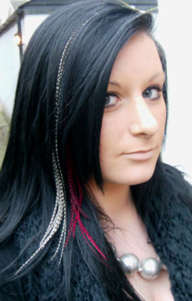feather hair extensions medium length shoulder hair