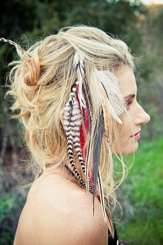 feather hair extensions medium shoulder length hair