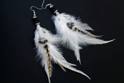 Long Feather Earrings (20 cm) #083