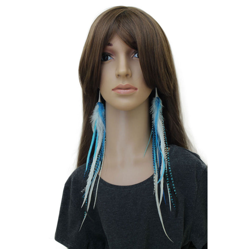 Long Feather Earrings (33 cm) #010