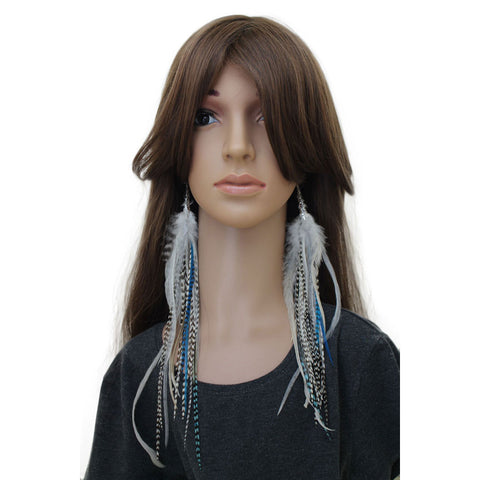Long Feather Earrings (30 cm) #015
