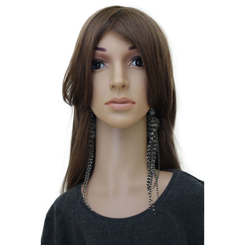 Long Feather Earrings (24 cm) #017