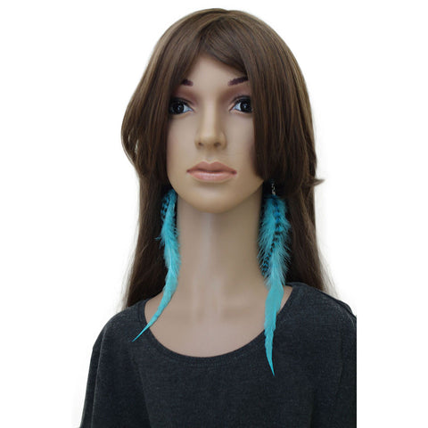 Long Feather Earrings (25 cm) #021