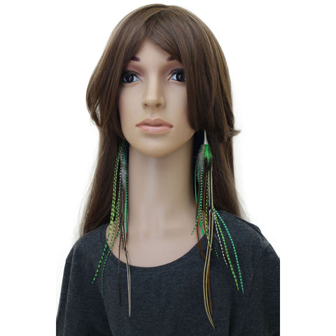 Long Feather Earrings (30 cm) #022