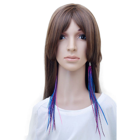 Long Feather Earrings (32 cm) #023