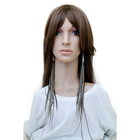 Long Feather Earrings (41 cm) #024