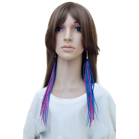 Long Feather Earrings (33 cm) #026