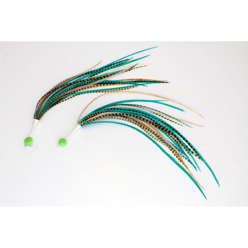 Long Feather Earrings (28 cm) #027