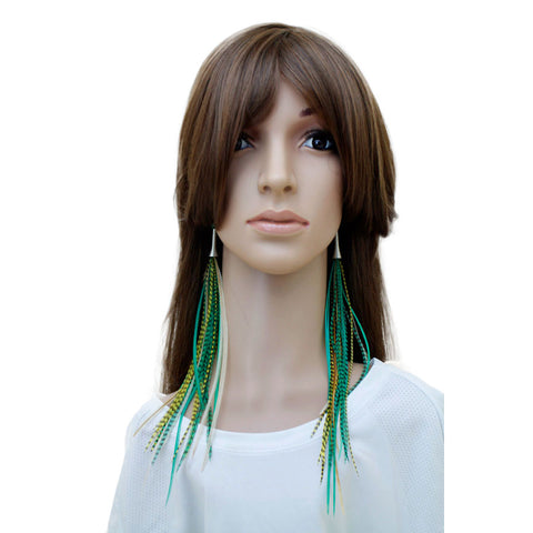 Long Feather Earrings (28 cm) #028