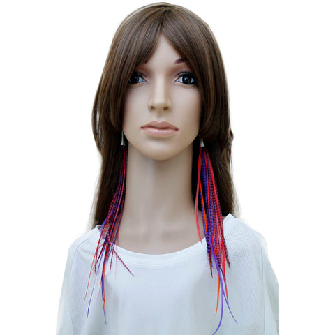Long Feather Earrings (32 cm) #030