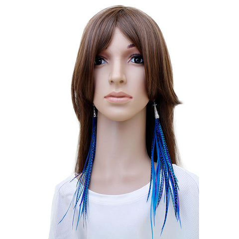 Long Feather Earrings (28 cm) #031