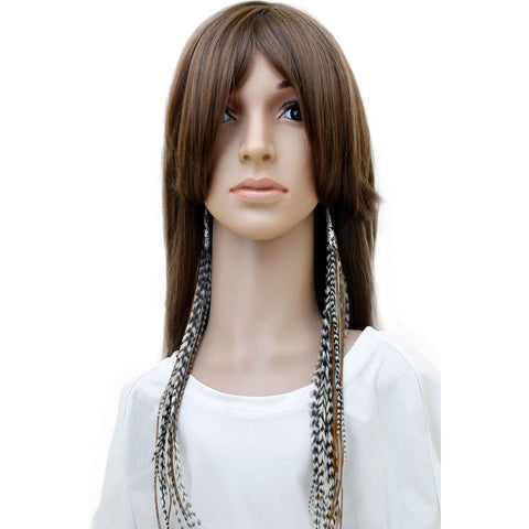 Long Feather Earrings (38 cm) #033