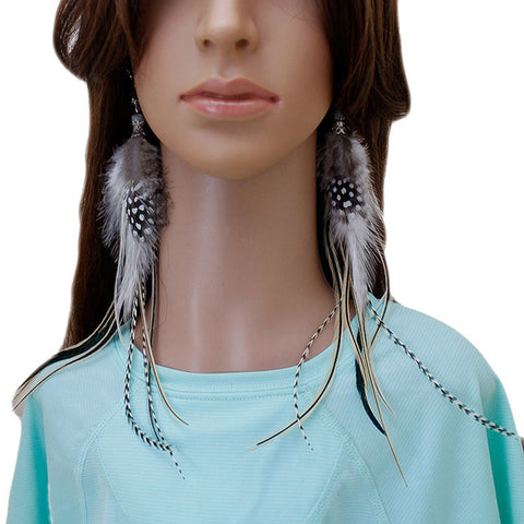 Long Feather Earrings (25 cm) #037