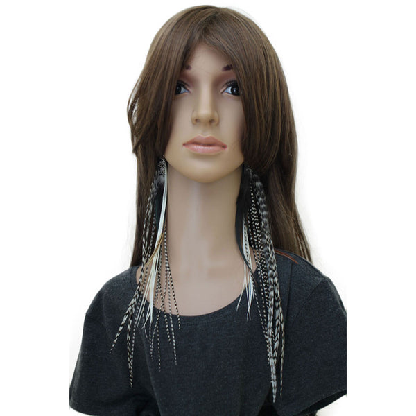 Long Feather Earrings (33 cm) #003
