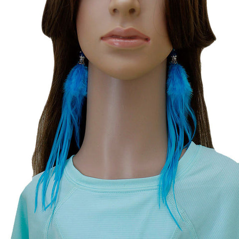 Long Feather Earrings (25 cm) #040