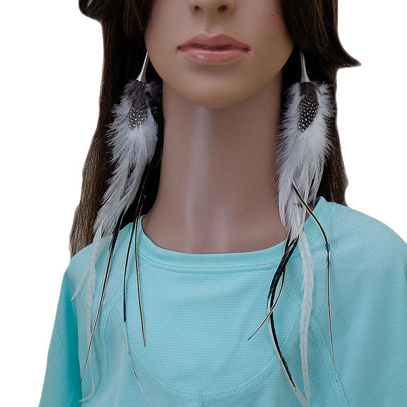 Long Feather Earrings (33 cm) #045
