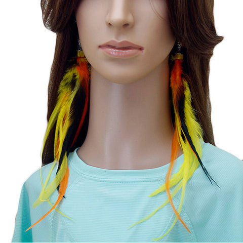 Long Feather Earrings (28 cm) #047