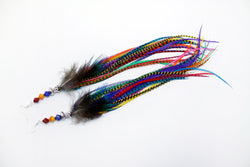 Long Feather Earrings (28 cm) #050