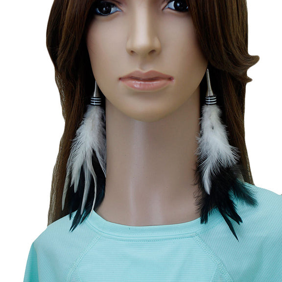 Long Feather Earrings (20 cm) #052