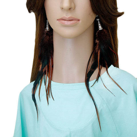 Long Feather Earrings (29 cm) #053