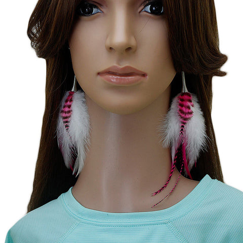 Long Feather Earrings (18 cm) #056