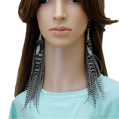 Long Feather Earrings (23 cm) #058