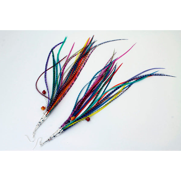 Long Feather Earrings (30 cm) #005