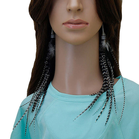 Long Feather Earrings (28 cm) #060