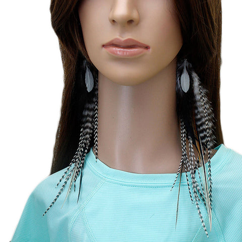 Long Feather Earrings (25 cm) #067