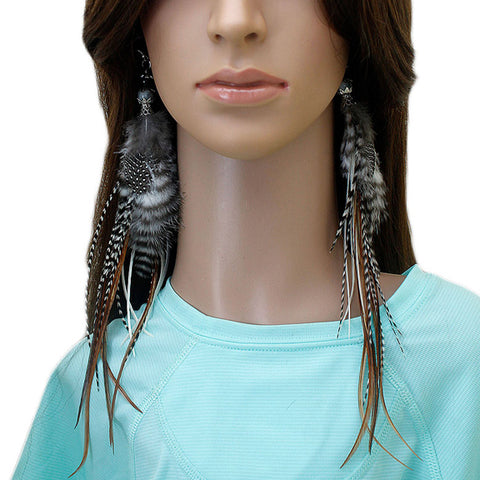Long Feather Earrings (27 cm) #069
