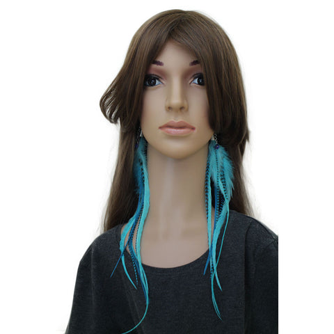 Long Feather Earrings (30 cm) #009