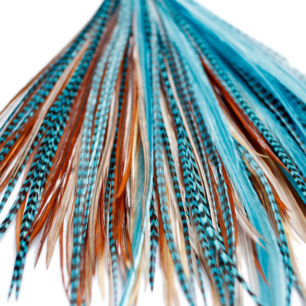 20x Discount  B-Grade Feathers - Turquoise Naturals