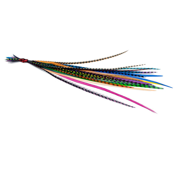 25x Short 7-9 inch Feathers - Mixed Brights
