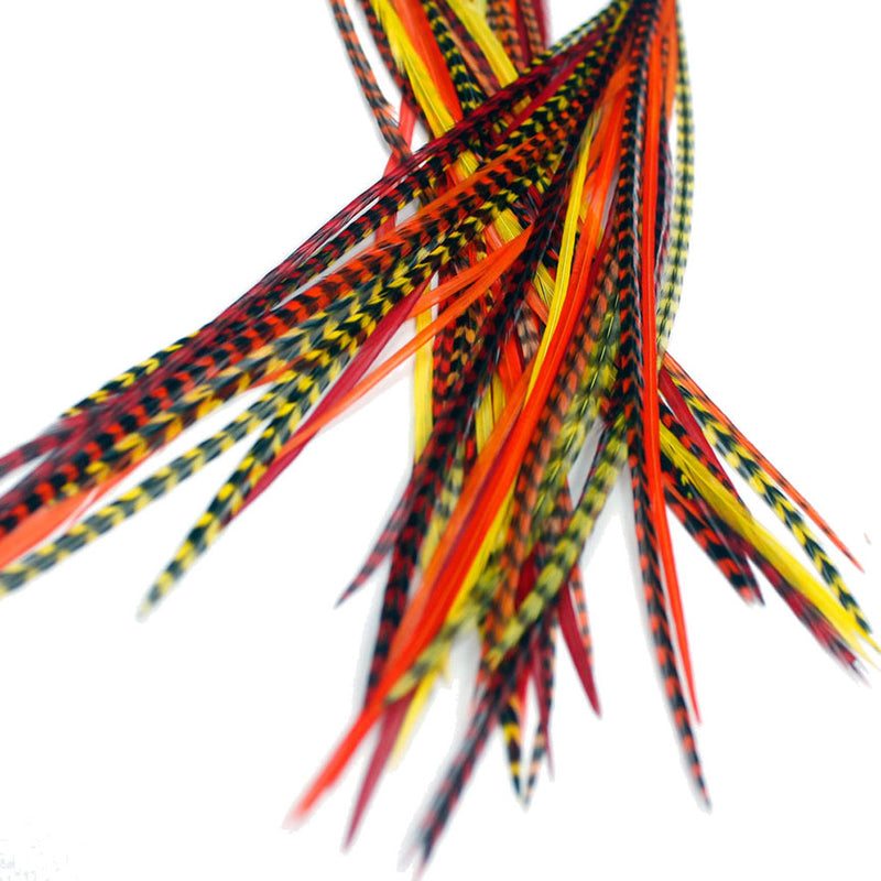 25x Short 7-9 inch Feathers - Sunburst