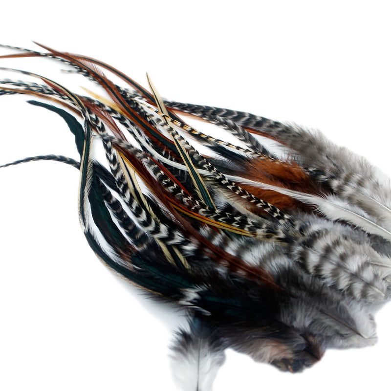 25 Fluffy Hair Feathers